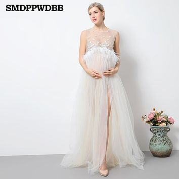 New Maternity Photography Props Maternity Dresses Voile Maxi Dresses Sleeveless Pregnant Women Dress Pregnancy Photo Shoot