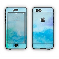 The Subtle Green & Blue Watercolor V2 Apple iPhone 6 Plus LifeProof Nuud Case Skin Set