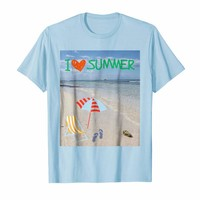 I love Summer / I heart summer beach Isla Saona T-Shirt