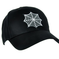 Gothic Spider Web Hat Halloween Baseball Cap Alternative Gothic Clothing