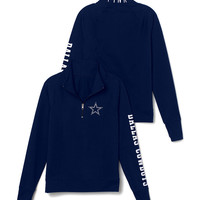 Dallas Cowboys Athletic Half-Zip Pullover - PINK - Victoria's Secret