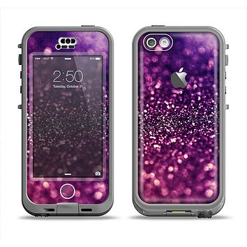 The Unfocused Purple & Pink Glimmer Apple iPhone 5c LifeProof Nuud Case Skin Set