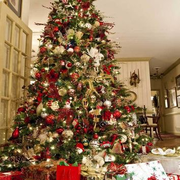 Large Christmas Tree Titanium Cloth Backdrop 10x10 - LCTC729 - LAST CALL
