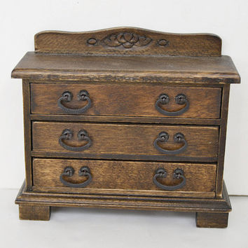 Wooden chest of drawers dollhouse