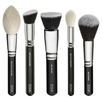 NEW ZOEVA 25 PCS SILVER SINGLE MAKEUP EYE/FACE BRUSHES