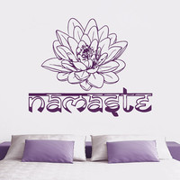 Wall Decal Vinyl Sticker Decals Art Decor Design Lotus Words Namaste yin yang Buddha Ganesha Dorm Office Yoga Modern Bedroom (r816)
