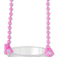 Pecker Shot Glass Necklace PINK - Clear