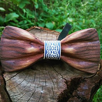 3d Wooden Bow Tie / Wood Bow Tie / Unique Design / Boys Bowtie / Wedding Wood Bowtie / Wooden Bowtie / Mens Bow Tie. 100% Hand Made - Mens Gift. Husband Gift For Men, Father