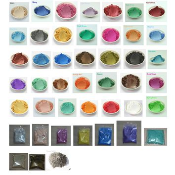 45 mixed colors healthy Natural Mineral Mica DIY dye for soap soap 1 lot = 5 g / 10 g * 45 = 225 g / 450 g