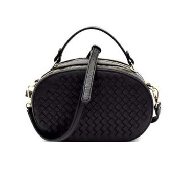 Weaved Oval Handbag
