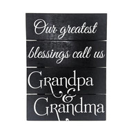 Our greatest blessings call us Grandpa & Grandpa - Wood Pallet Sign, Gift for Grandparents, Custom Pallet Decor, Nana and Papa