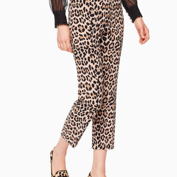 leopard-print cigarette pant | Kate Spade New York