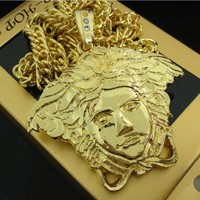 New Arrival Stylish Jewelry Shiny Gift Gold Club Necklace [6542760003]
