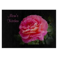 Mom's Kitchen Personalized Glass Cutting Board