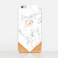 White Marble Monogram Phone Case  - iPhone 6 Case - iPhone 5 Case - iPhone 4 Case - Samsung S4 Case - iPhone 5C - Tough Case - Matte Case