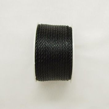 Free shipping 10mtrs/Lot Vintage Black 3mm Nylon Braide Persian Cord Macrame&Craft Yarn