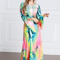 Plus Size Gradient Women's Maxi Dress