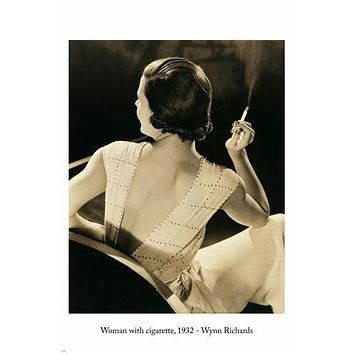 WYNN RICHARDS Woman With Cigarette PHOTO POSTER 24X36 vintage 1932