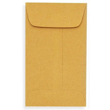 "50 x 2 of UNIVERSAL KRAFT COIN ENVELOPES #1 SIZE 2.25"" BY 3.5"" WITH GUMMED FLAP"