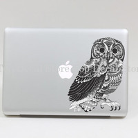 Transparent Owl Macbook Decal Macbook pro Sticker Macbook Decals vinyl Stickers Apple Decal for Macbook  decal for 13inch(SN29102)