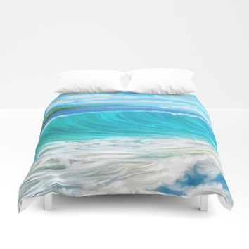 Mermaid's mountain Duvet Cover by exobiology