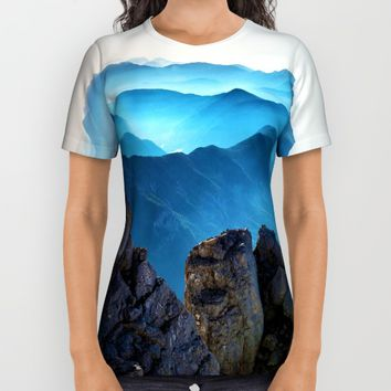 Mountains Breathe Too All Over Print Shirt by Mixed Imagery