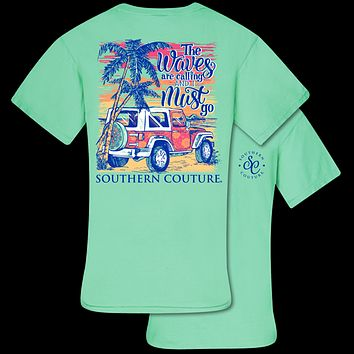 Southern Couture Waves Are Calling Jeep Comfort Colors T-Shirt