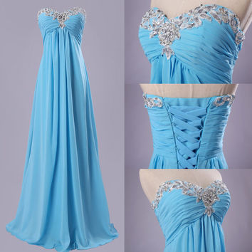 Sexy Strapless Long Formal Wedding Prom Party Bridesmaid Evening Ball Gown Dress