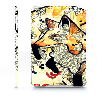 iPad mini case - Fox art - Watercolor iPad mini case - Watercolor animal - Japanese Fox - Device case - iPad case - Case for iPad mini