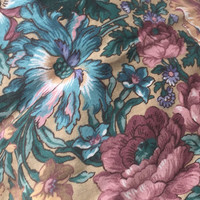 Destash Cotton Fabric with Flowers Print 99 inches Over 3 Yards and 42 inches wide