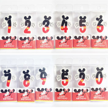 Birthday Candle Mickey Minnie Candle 0 1 2 3 4 5 6 7 8 9  Anniversary Cake Numbers Age Candle Party Supplies Decoration