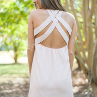 Crissed & Crossed Dress, Blush