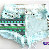 ANY Size ANY Colorway x HighWaisted Aztec Frayed by NateHandmade