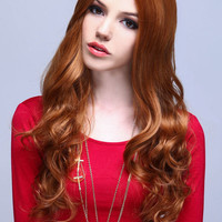 LONG NATURAL WAVES SYNTHETIC FULL WIG