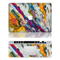 Flowing Color -- Mac Protection Decal Mac Full-cover Decal  Laptop Art Decal Skin Sticker Cover for Apple Macbook Pro/ Macbook Air