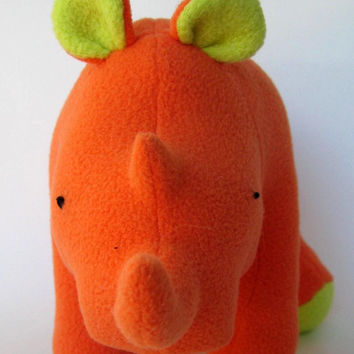 Little Miss Mango Rhinoceros, small, mini, stuffed animal, plush, fleece