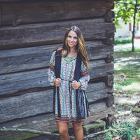 Abstract Aztec Dress