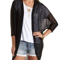 Chiffon & Sweater Knit Cocoon Cardigan by Charlotte Russe