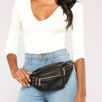 Minimal Chain Fanny Pack - Black