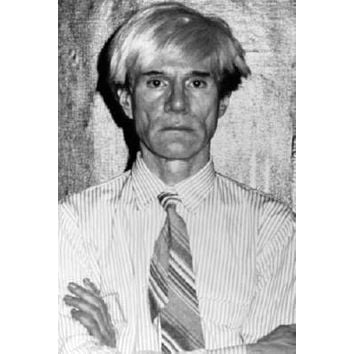 Andy Warhol Poster Standup 4inx6in black and white