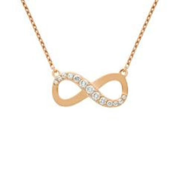 Sterling Silver Rose Gold Plated Graduating Necklace