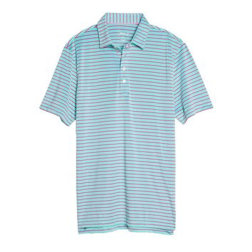 Cay Striped Pique Prep-Formance Pique Polo in Pipeline by Johnnie-O