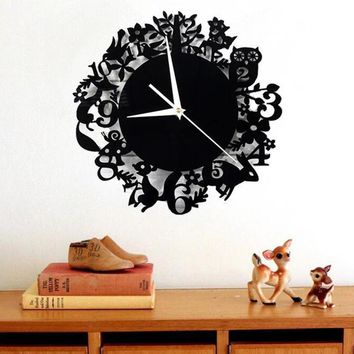 Acrylic Modern DIY large size Wall Clock 3D Mirror Surface Sticker Home Office Decor unique gift