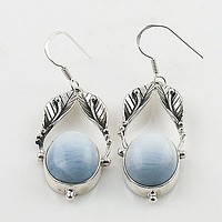 Owyhee Opal Sterling Silver Vine Earrings