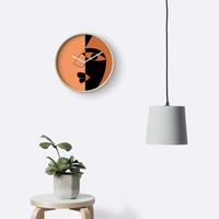 'Abstract face' Clock by Tas Lima