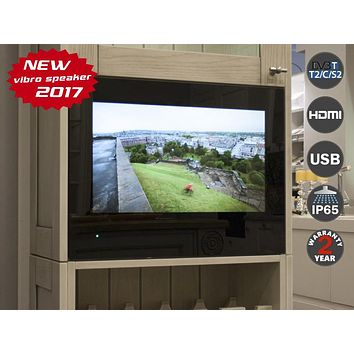 "21.5"" Cabinet Door TV for Kitchen Digital tuner DVB-T/T2 (Freeview)  AVS220K. Black Frame/ Magic Mirror. Free shipping"