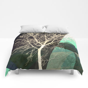 LONELY TREE Comforters by Pia Schneider