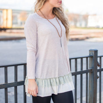 Let Live Tunic, Taupe