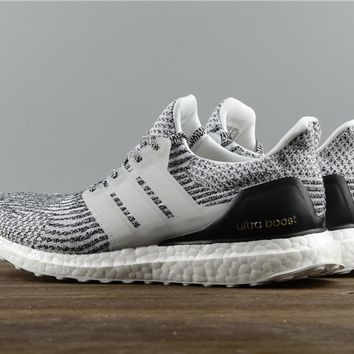 [FREE SHIPPING] 2017 Adidas Ultra Boost 3.0 Oreo Zebra Black White Boost S80636