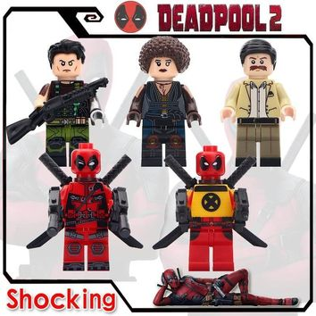 Deadpool Dead pool Taco Single Sale Building Blocks  2 Super Heroes Domino Cable Peter Gwenpool  Action Figures Collect Children Gifts AT_70_6